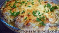 Фото к рецепту: Курица, запеченная с картофелем и сыром, по-французски