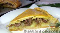 """Фото к рецепту: Пирог """"Праздничный"""" с мясом и картофелем"""