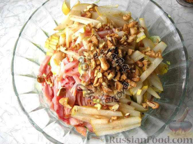"""Фото приготовления рецепта: Праздничный салат """"Красотка"""" (без майонеза) - шаг №4"""