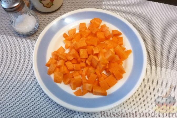 Фото приготовления рецепта: Печеночный паштет с айвой - шаг №3