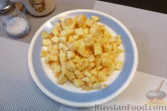 Фото приготовления рецепта: Печеночный паштет с айвой - шаг №4