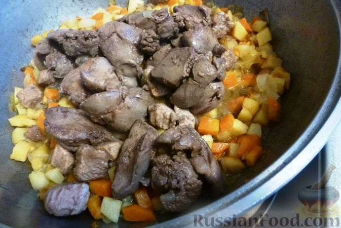 Фото приготовления рецепта: Печеночный паштет с айвой - шаг №10