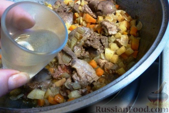 Фото приготовления рецепта: Печеночный паштет с айвой - шаг №11