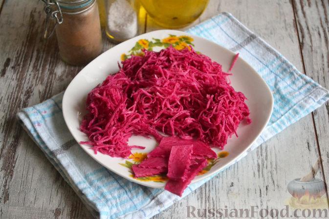 Фото приготовления рецепта: Салат «Ташкент» с говядиной и редькой - шаг №3