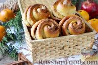 Фото к рецепту: Сдобные булочки с сахаром и корицей, на майонезе