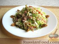 """Фото к рецепту: Праздничный салат """"Красотка"""" (без майонеза)"""