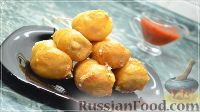 Фото к рецепту: Корн-дог (сосиски в тесте) с сыром