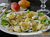"""Фото к рецепту: Салат """"Дольче""""  с грушей, сельдереем и сыром"""