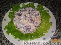 Фото к рецепту: Салат с фасолью и сухариками (за 5 минут)