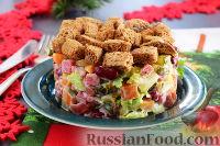 Фото к рецепту: Немецкий праздничный салат с колбасой