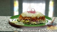 Фото к рецепту: Слоеный салат с кальмарами