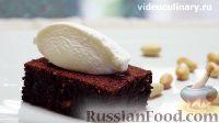 Фото к рецепту: Шоколадное пирожное с арахисом