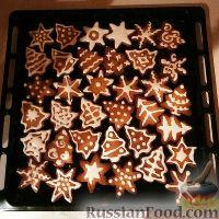 Фото к рецепту: Рождественское печенье с глазурью