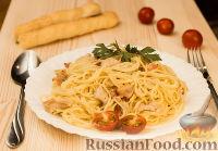 Фото к рецепту: Паста карбонара с куриным филе (за 20 минут)