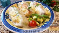 Фото к рецепту: Спринг-роллы с семгой и авокадо