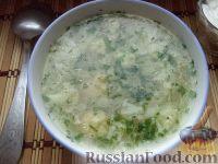 Фото к рецепту: Суп из цветной капусты с рисом