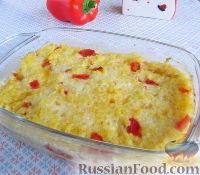 Фото к рецепту: Пшенная запеканка с печеным перцем