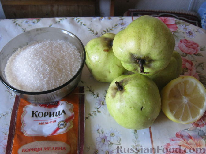 Фото приготовления рецепта: Десерт из айвы с корицей - шаг №1