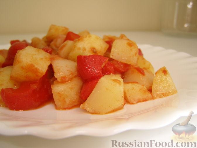 Рецепт Картофельный салат с болгарским перцем и томатной заправкой