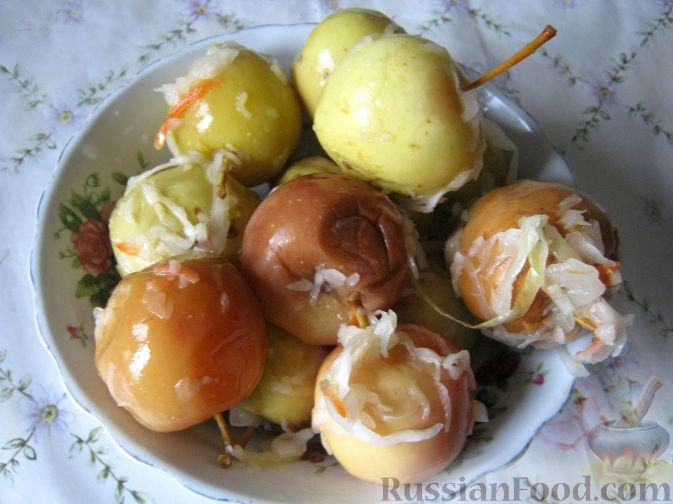 Рецепт Моченые яблоки с капустой