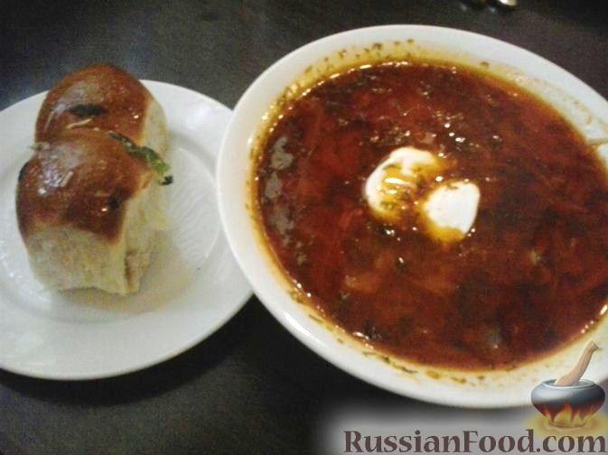 Рецепт Красный борщ с телячьей грудинкой