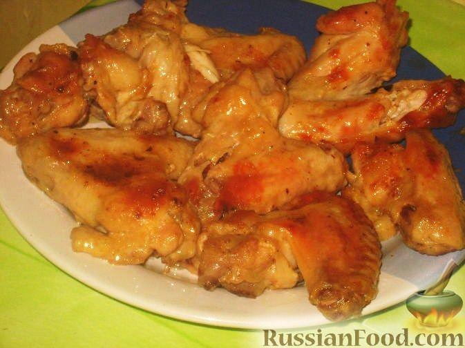Рецепт Крылышки куриные в горчичном соусе