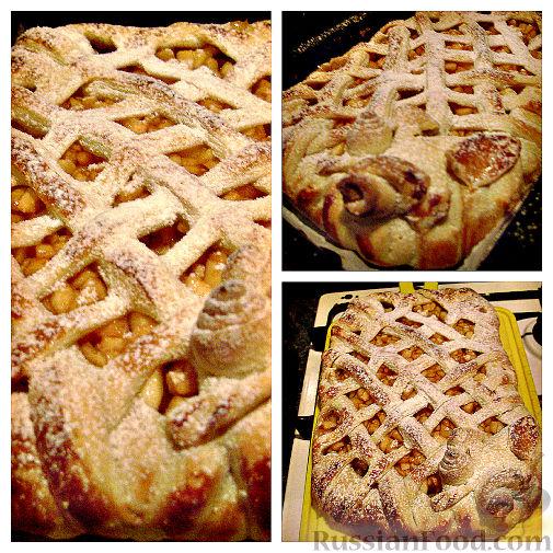 Слоеное тесто с яблоками и грушами рецепт