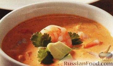 Рецепт Мексиканский суп с креветками