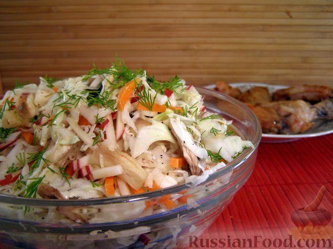 Рецепт Капустный салат с шампиньонами