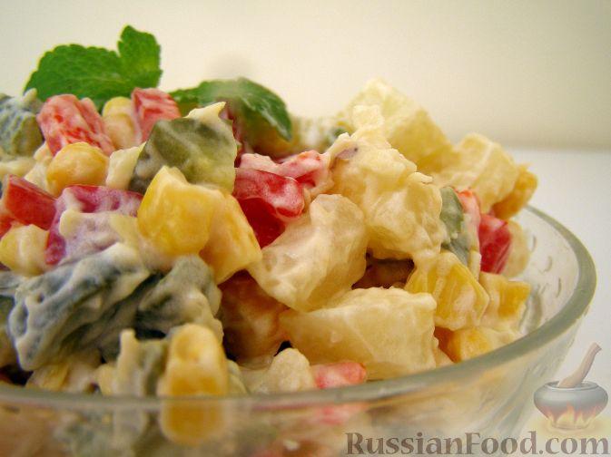 """Рецепт Овощной салат """"Летнее настроение"""""""