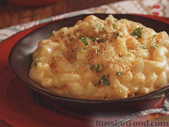 Рецепт Макароны, запеченные в сырном соусе