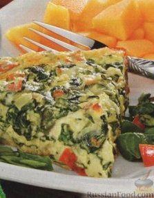 Рецепт Фриттата со шпинатом, помидорами и сыром