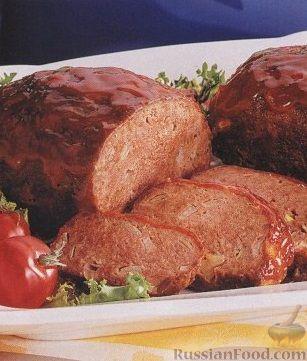 Рецепт Мясной хлеб с томатным соусом