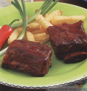Рецепт Говяжьи ребрышки, приготовленные на гриле
