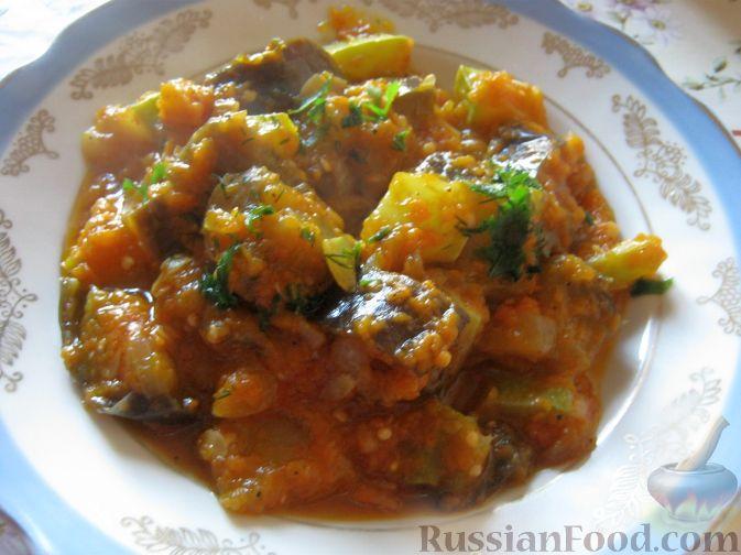 овощное рагу с кабачками и тыквой рецепт