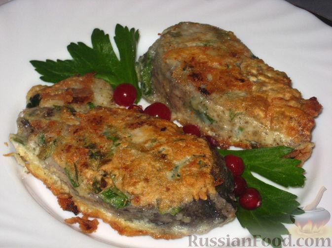 Рецепт Рыба жареная с зеленью и чесноком