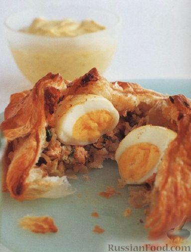 Рецепт Пирожки из слоеного теста с целым яйцом внутри