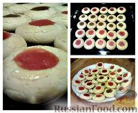 Фото к рецепту: Песочное печенье с повидлом
