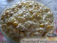 Фото к рецепту: Салат из курицы с ананасами