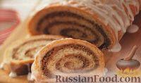 Фото к рецепту: Рулеты с ореховой начинкой