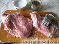 Фото приготовления рецепта: Отбивные из свинины (карбонат) - шаг №3