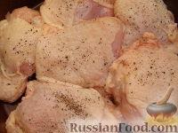 Фото приготовления рецепта: Куриные бедрышки, запеченные с яблоками - шаг №2