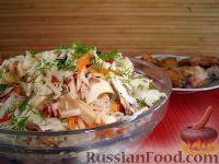 Фото к рецепту: Капустный салат с шампиньонами