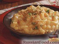 Фото к рецепту: Макароны, запеченные в сырном соусе