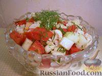 Фото к рецепту: Овощной салат с кабачками и цветной капустой