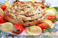 """Фото к рецепту: Мясной """"пирог"""" """"Чайная роза"""""""