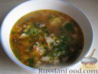 Фото к рецепту: Суп с грибами и семгой