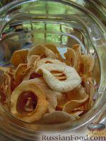 Фото к рецепту: Сушеные яблочные колечки