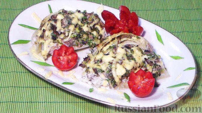 Фото приготовления рецепта: Омлет на молоке, с грибами и куриной печенью (в духовке) - шаг №1
