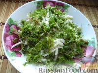 Фото к рецепту: Салат из репы и редьки со сметаной